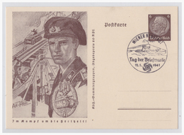 """Dt- Reich (003557) Propagandaganzsache P242/ 04 Aus Der Serie """"im Kampf Um Die Freiheit"""" Motiv Panzer Mit SST - Germany"""