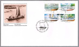 PEQUEÑAS EMBARCACIONES - SMALL WATER CRAFT - CANOA - KAYAK. SPD/FDC Norway House MB, Canada, 1990 - Ships