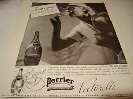 ANCIENNE PUBLICITE SES 2 AMOURS SA RAQUETTE  ET SON PERRIER  1937 - Perrier