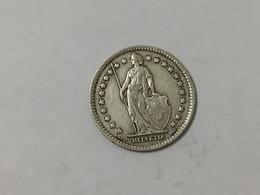 MONETA Svizzera Switzerland 1 Franco Franc 1931  Helvetia ARGENTO SILVER - Svizzera