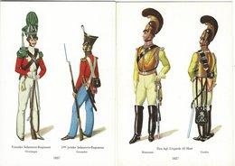 Old Uniforms. The Royal Arsenal Museum, Copenhagen Denmark. 2 Cards. B-3256 - Uniforms