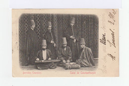 Sur Carte Postale De Constantinople Type Sage 5 C. Vert Jaune CAD Constantinople Turquie 1902. (781) - 1858-1921 Empire Ottoman