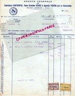 BELGIQUE-LUXEMBOURG-CONGO-RARE FACTURE CAOUTCHOUC CONTINENTAL-H. VAN DER STRAETEN-ROUES HERINF E PIQUERA-1927 - Old Professions