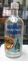 AC - ABSOLUT  VODKA ISTANBUL EMPTY GLASS BOTTLE # 5  SWEDISH VODKA FROM TURKEY - Glasses