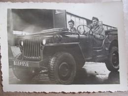 Photographie Originale Militaires Dans JEEP - Format 10,5 X 7,5 Dentelée -  TBE - War, Military