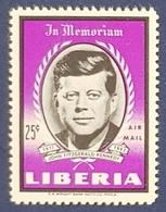 1964 Liberia, Airmail, The Death Of John F. Kennedy, MNH - Liberia