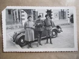 Photographie Originale  3 Militaires à Identifier  ( Chasseurs Alpins ? ) - Format 11,5 X 7 Dentelée -  BE - War, Military