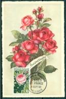 CM-Carte Maximum Card # France-1962 #Flore,flora,fleurs,Bumen,flowers #Rose,Roses De France # Orleans - 1960-69