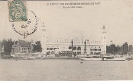 Bateaux : Expositon Maritime De Bordeaux 1907 - Façade Des Quais ( Bordeaux - Gironde ) - Sonstige