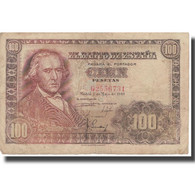 Billet, Espagne, 100 Pesetas, 1948, 1948-05-02, KM:137a, TB+ - 100 Pesetas