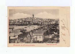 Sur Carte Postale De Constantinople Type Sage 5 C. Vert Jaune. CAD Constantinople Turquie 1901. (785) - 1858-1921 Empire Ottoman