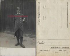Guerre De 1914-camp De Prisonniers Konigsbrück (Sachsen)-soldat 143e R-personnel De Santé-infirmier - Guerre, Militaire