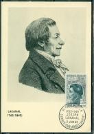 CM-Carte Maximum Card # France-1962 # Célébrités #Sciences # Joseph Lakanal ,savant ,politicien,pedagogue # Serres - Maximumkaarten