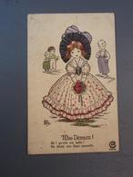 Cpa Miss Demeure Ah! Qu'elle Est Bellle On Dirait Une Fleur Nouvelle Marsh Lambert - Autres Illustrateurs