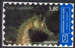 Croatie 2015 Oblitéré Used Poisson Hippocampus Guttulatus Hippocampe Moucheté - Croatie