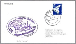 Fragata BREMEN - Operacion AAG 102/88 - Marineschiffspost 08 - 1988. Visita MALAGA - Militares