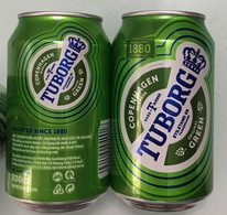 Vietnam Viet Nam Tuborg 330ml Empty Beer Can - New Design 2018 / Opened By 2 Holes - Cans