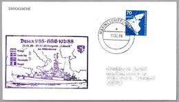 Fragata LÜBECK - Operacion AAG 102/88 - Marineschiffspost 02 - 1988. Visita MALAGA - Militares