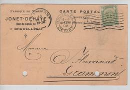 AP2116 / TP 83 Armoiries Perforé J D S/CP Fabrique De Tissus Jonet-Dehaye V.Gramont C.d'arrivée - 1863-09