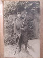 Militaria - Superbe Carte-Photo Poilu -  Fusil Baïonnette Et Harnachement - Photo Prise à Aix-en-Othe - Voir Annonce TBE - War 1914-18