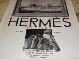 ANCIENNE PUBLICITE SELLIER MAISON HERMES 1930 - Jewels & Clocks
