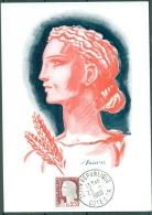 CM-Carte  Maximum Card # France-1960 # Timbres Courants # Art # Painting # Marianne ,0,25f # Essai De Decaris # Dijon - Maximumkaarten