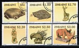ZIMBABWE /Oblitérés/Used/1996 - Artisanat En Bois - Zimbabwe (1980-...)