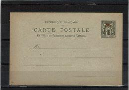 CTN54A- CHINE CARTE POSTALE NEUVE 4 TRACES DE CHARNIERE AU VERSO DE LA REPONSE - Chine (1894-1922)