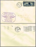 FIRST FLIGHT UNDER CONTRACT AIR MAIL CHICAGO-SAN FRANCISCO. Cheyenne WY 1927 - Correo Postal
