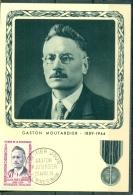 CM-Carte Maximum Card # France-1959 #Guerre,war#Histoire,History # Résistance,Wiederstand # Gaston Moutardier #Comines - Cartes-Maximum