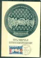 CM-Carte Maximum Card # France-1959 # Tourisme #Histoire # Traité Des Pyrénées 1659-1959 ( Mains, Hände,hands)# Béhobie - Maximum Cards