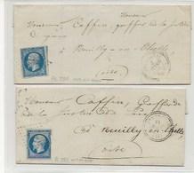 2 Lettres De ONS En BRAY PC2328 OISE - 1849-1876: Période Classique