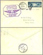 FIRST FLIGHT INAUGURATING AIR MAIL SERVICE DALLAS-SAN ANTONIO. Austin TX 1928 - Correo Postal