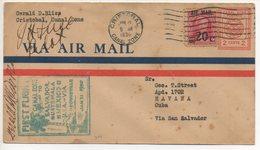 AIR MAIL LETTER 21 01 1930 #60 - Amérique Centrale