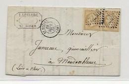 Lettre De DE SAINT-DIZIER GC 3572 Paire N°21 HAUTE MARNE - 1849-1876: Période Classique