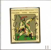 Pin's Judo / Championnat D'Europe Homme & Femme à Frankfurt Am Main (D) En 1990. Non Est. Epoxy. T623-11 - Judo