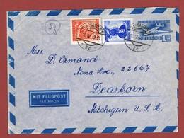 Luftpostbrief  Ab Bad Gastein Nach U S A  1949 Porto 2.05 Sch.   ; - 1945-60 Lettres