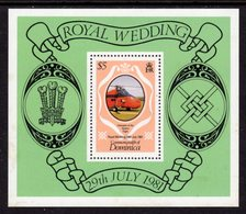 DOMINICA - 1981 ROYAL WEDDING $5 MS SG MS FINE MNH ** - Dominica (1978-...)