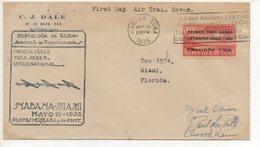 AIR MAIL COVER 18 05 1935 #64 - Posta Aerea