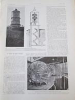 1925 Le Phare Du MONT AFRIQUE  Pres De DIJON Lentilles  Systeme Lumineux - Vieux Papiers