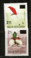 PAPOUASIE.   Oiseaux De Paradis    2 RARES Timbres Surchargés. Neufs ** - Papoea-Nieuw-Guinea