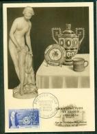 CM-Carte Maximum Card # 1957-FRANCE # Art -Kunst #Manufacture De  Sèvres #Porcelaine, Porzellan,Statue - Cartes-Maximum