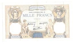 "P France 1000 Francs """" CERES Et MERCURE """" 20 Octobre 1938 - 1871-1952 Anciens Francs Circulés Au XXème"