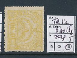 BELGIUM RAILWAY SPOORWEG CF 1920 ISSUE COB TR112 LH FAULS FOLDED - 1915-1921