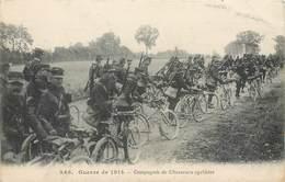 246 - Guerre De 1914 - Militaria Compagnie De Chasseurs Cyclistes - Fusils - Baïonnettes - Soldats - Régiments