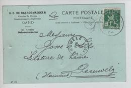 AP2119/ TP 110 Pellens Perforé G D B S/CP De Baerdmaecker Gand C.Gent 1913 V.Perulwelz - Perfins