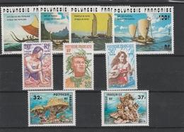 LOT 1470 POLYNESIE FRANCAISE N° 111-112-113-114-121-122-123-130-131 ** - Unused Stamps
