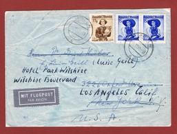 Luftpost  Brief Ab Molln Nach U S A  1949 Porto 2.15  Sch.  Versch. Bemerkungen; 2 Scan - 1945-60 Covers