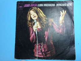 JANIS JOPLIN-LLORA MUCHACHA/  MERCEDES BENZ -DISQUE 45 T - Vinyl Records