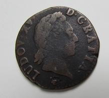 """PIECE Liard Dit """"à La Vieille Tête"""" - Louis XV - 1715-1774 Louis XV Le Bien-Aimé"""
